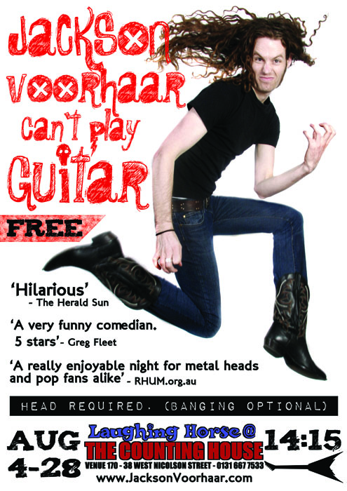 Jackson Voorhaar Can't Play Guitar - EdFringe: 2011