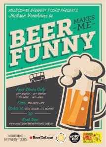 Beer Makes Me Funny Jackson Voorhaar Brewery Comedy tour poster